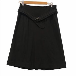 Club Monaco Belted Skirt with Ruffle Black Size 8